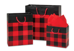 Buffalo Plaid Gift Bags