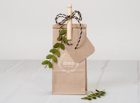 Custom Printed Kraft Favor Bag
