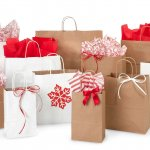 Kraft and White Christmas Bags