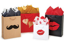 Nashville Wraps new Valentines Day hot stamped gift bags