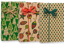 Nashville Wraps Christmas Holiday Kraft Wrapping Paper