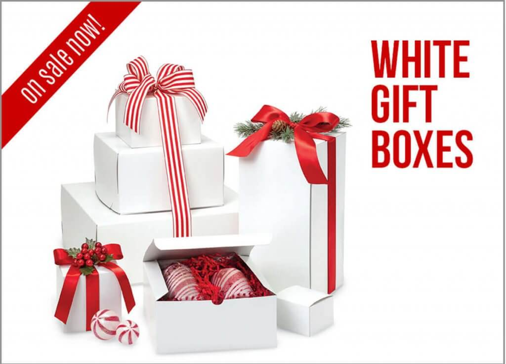 White Gift Boxes Sale