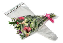 Clear Floral Bouquet Sleeves