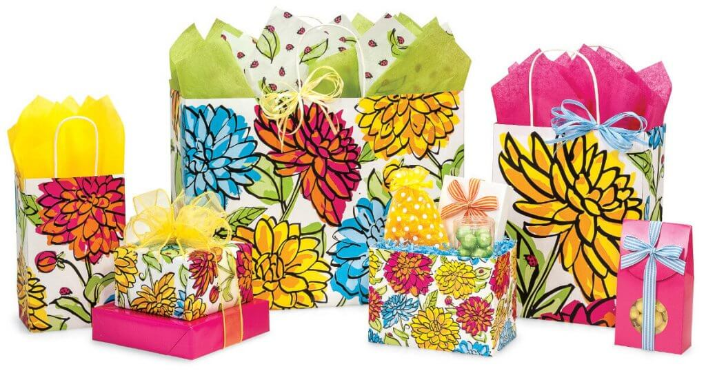 Vibrant Floral Shopping Bags