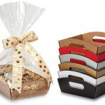 Beveled Shallow Market Trays for Gift Baskets