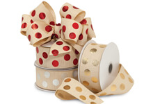 Metallic Dot Linen Ribbon