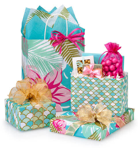 Tropical-Paradise-Gift-Wrap-Mermaid-Gift-Wrap-Mermaid-Gift-Bag-Mermaid-Basket-Box-Nashville-Wraps