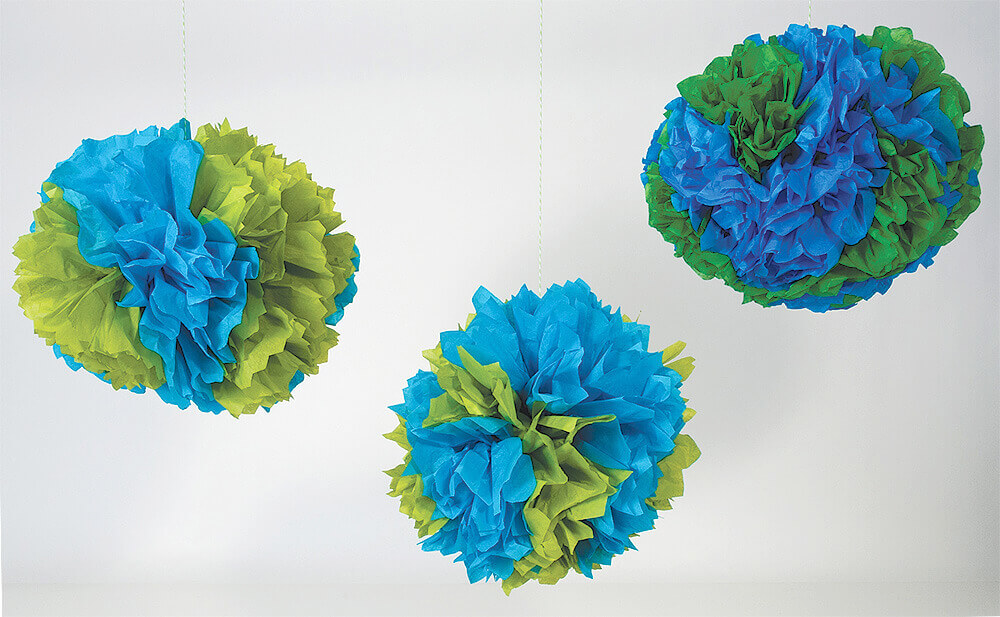 Earth Tissue Pom Poms
