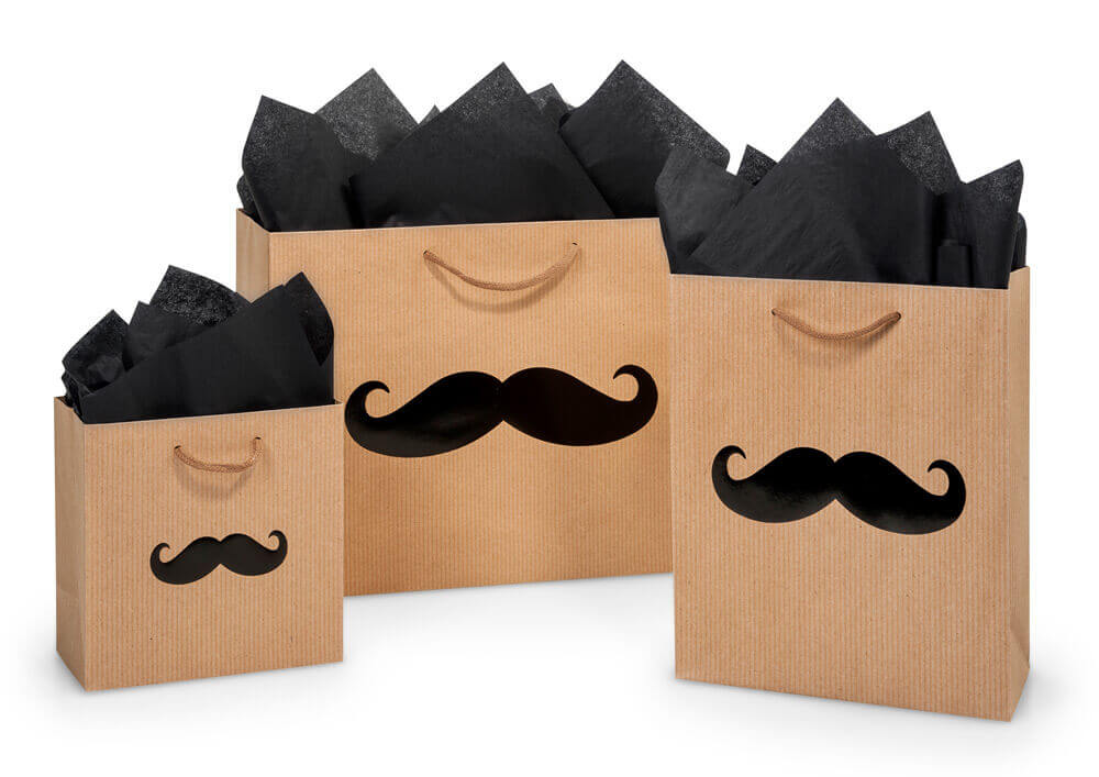 Mustache gift bags