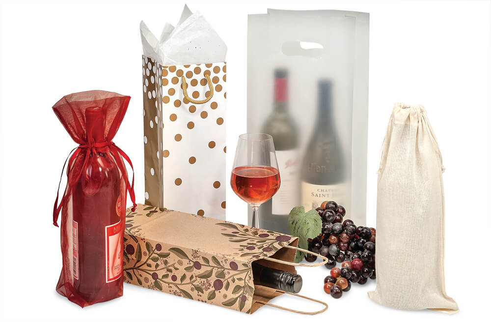 Wine bags make wonderful wine packaging! From Nashville Wraps