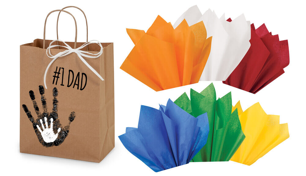 Personalized gift bag & tissue