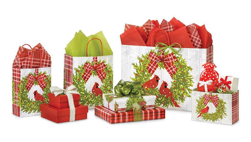 Christmas Plaid Cardinal Collection