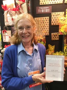 Patti Plumer of Nashville Wraps displays our new award