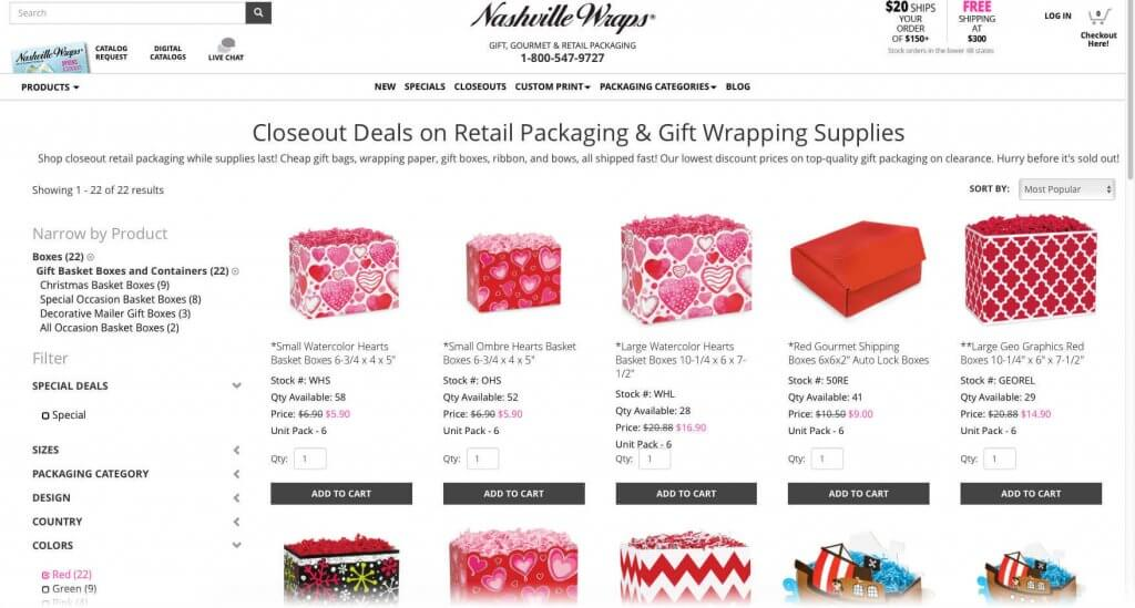 Shop our Closeouts by Color on the Nashville Wraps website!