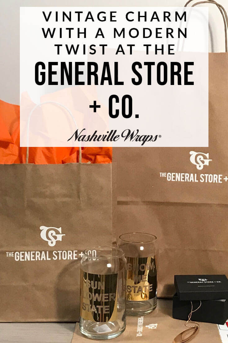 Nashville Wraps customer The General Store + Co. in Overland Park, KS is a vintage mercantile shop with a modern twist. Michael Cole\'s shop is one of Kansas City\'s best gift shops!