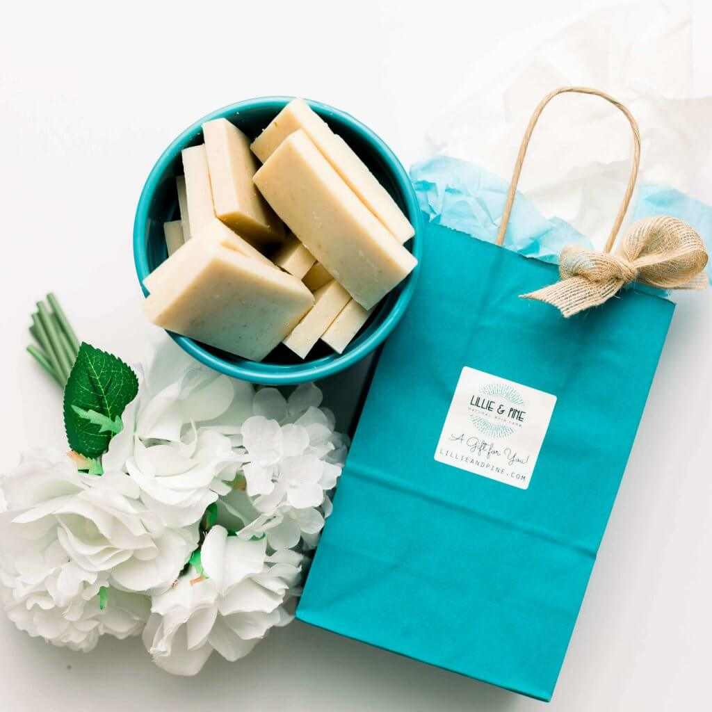 Lillie and Pine Natural Skin Care Products with gift bag