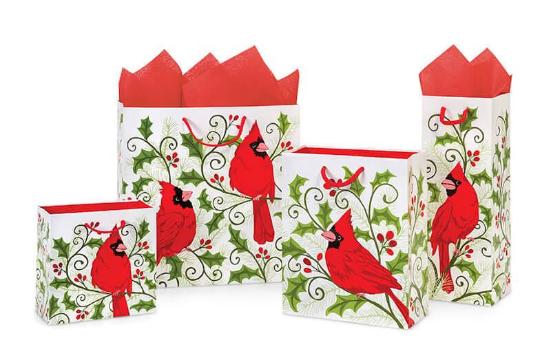 Nashville Wraps Christmas Cardinal Gift Bags