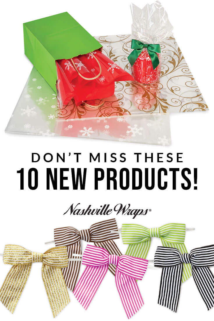 From window gourmet window boxes to colorful tissue paper, see how our 10 new products can help with your gift, gourmet, and retail packaging needs today!