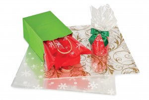 Printed Christmas Cellophane Sheets