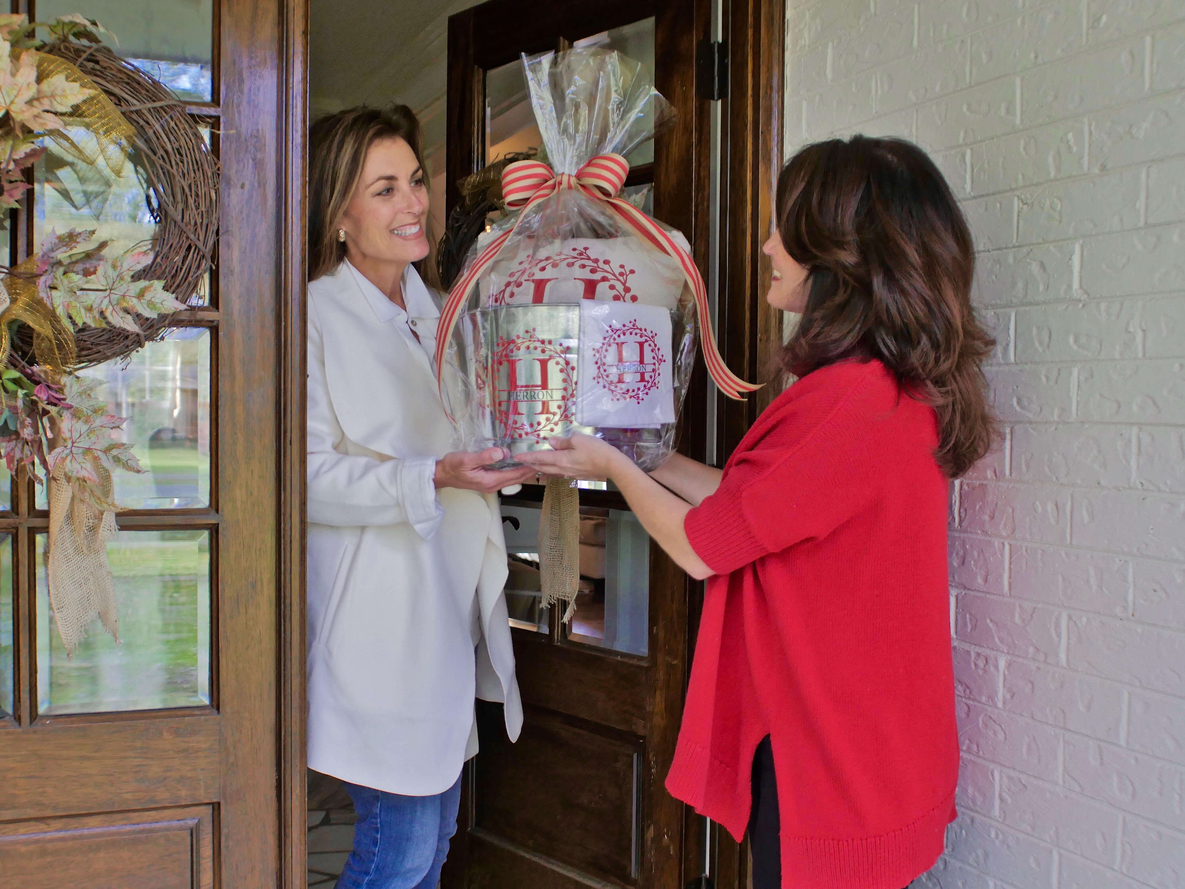 Tracey delivers one of her beautiful Beloved Belongings gift baskets