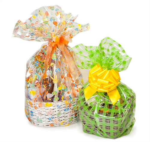 Basket bags to finish Easter baskets from Nashville Wraps