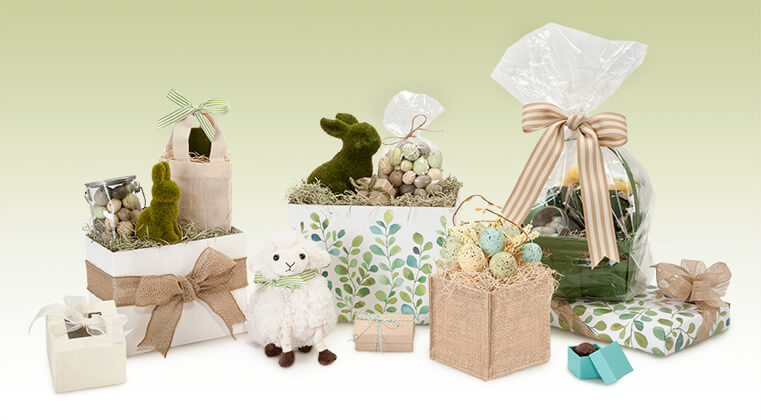 Have a natural-themed Easter with packaging from Nashville Wraps!
