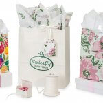 Spring Floral Packaging plus crisp white accents from Nashville Wraps