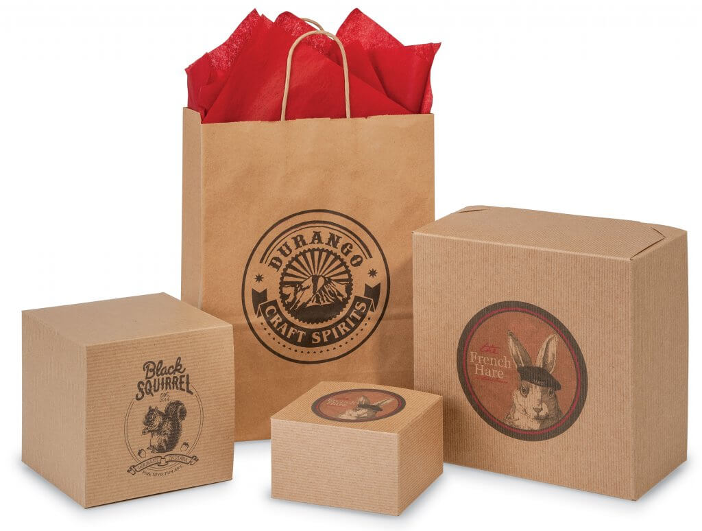 Digital Printing from Nashville Wraps - printed kraft bags & boxes with minimum orders of only 25!