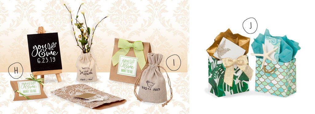 Pillow box favors and more fresh favor Packaging from the new Nashville Wraps wedding catalog!