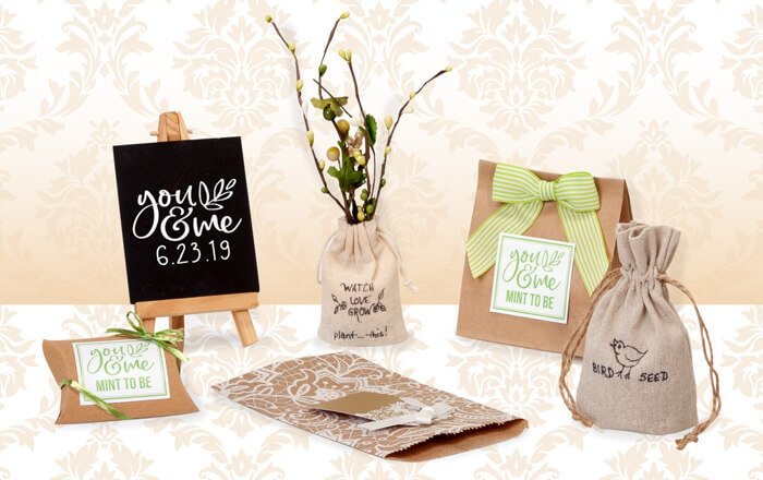 Beautiful favor packaging from Nashville Wraps