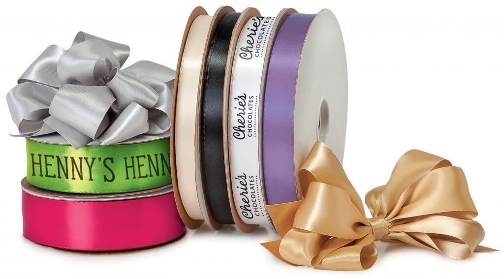 custom printed satin ribbon