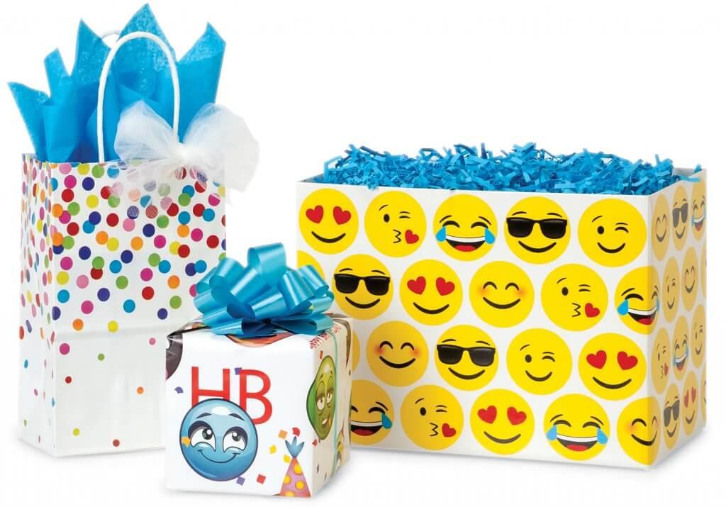 Emoji packaging from Nashville Wraps