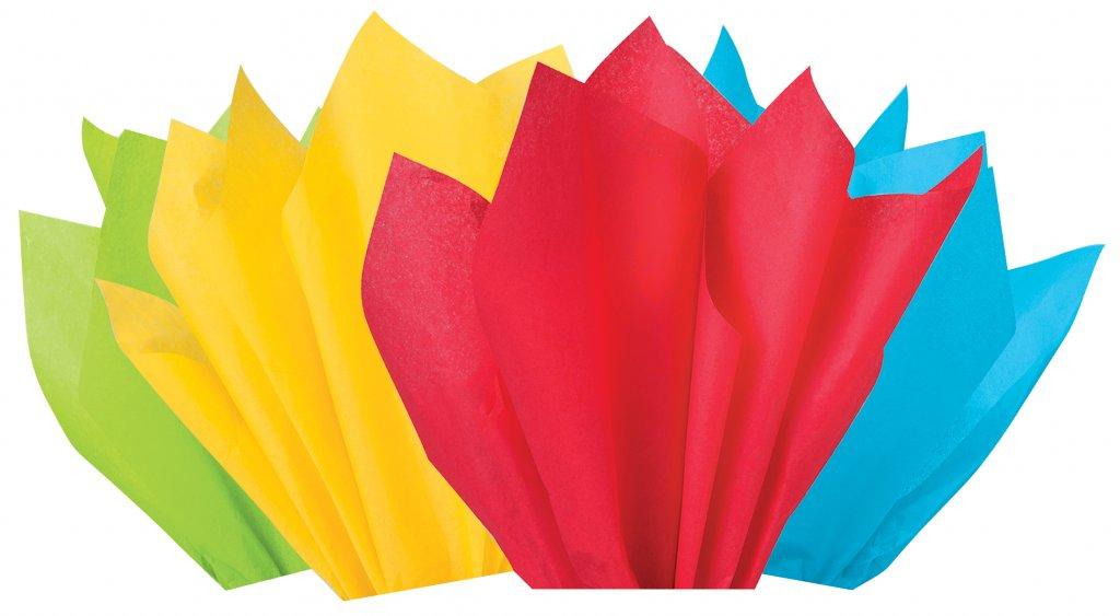 Rainbow confetti coordinating tissue