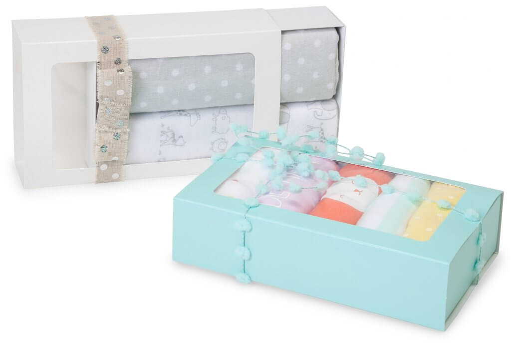 slide open candy boxes for baby gifts