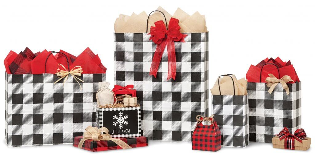 Buffalo Plaid Black Christmas Collection from Nashville Wraps