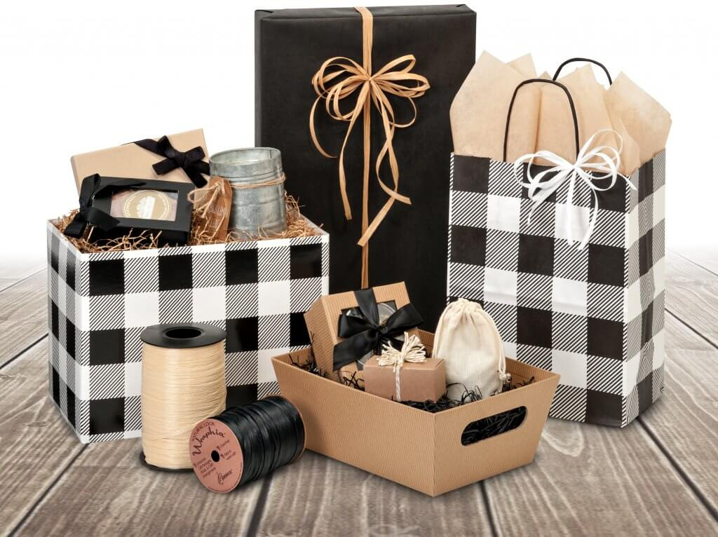 Mad about Buffalo Plaid packaging from Nashville Wraps
