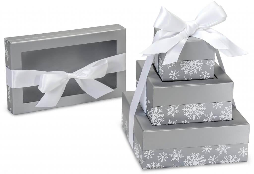 Silver Snowflake Presentation Boxes