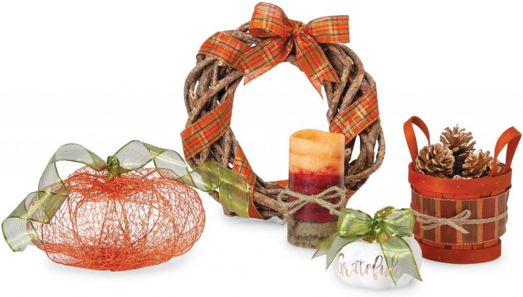Nashville Wraps Ribbon for Fall Decor