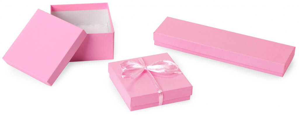 Pink jewelry boxes from Nashville Wraps