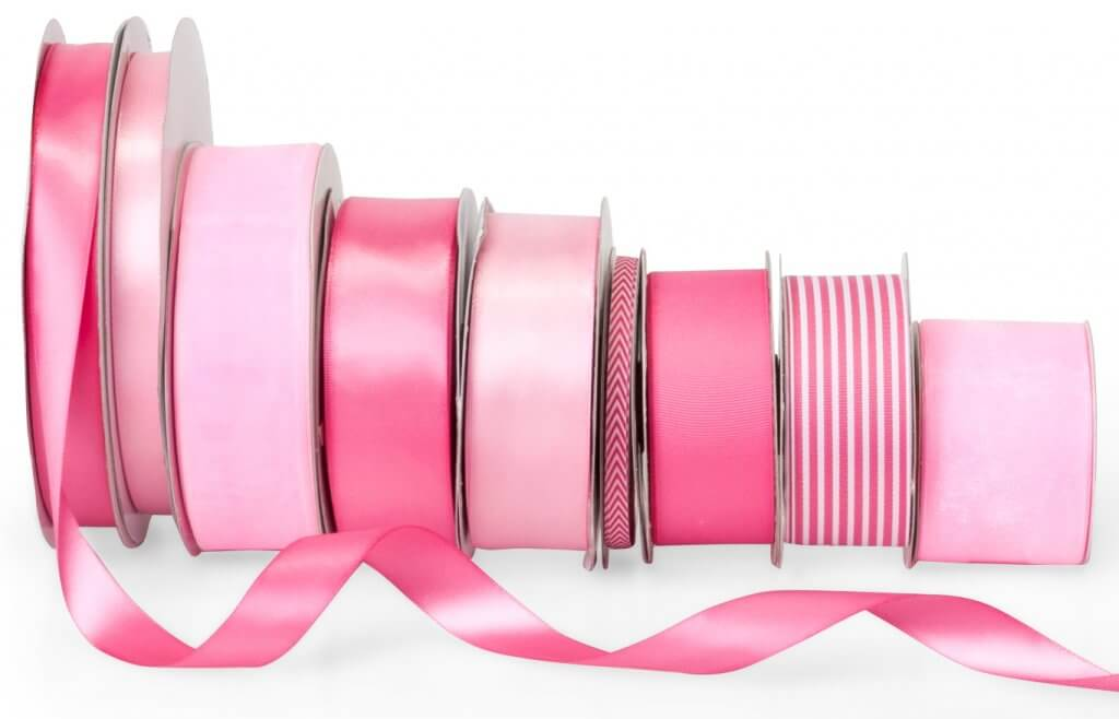 Pink ribbons from Nashville Wraps