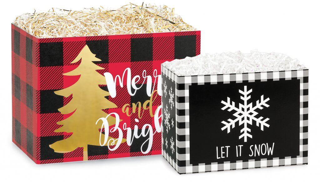 Christmas basket boxes