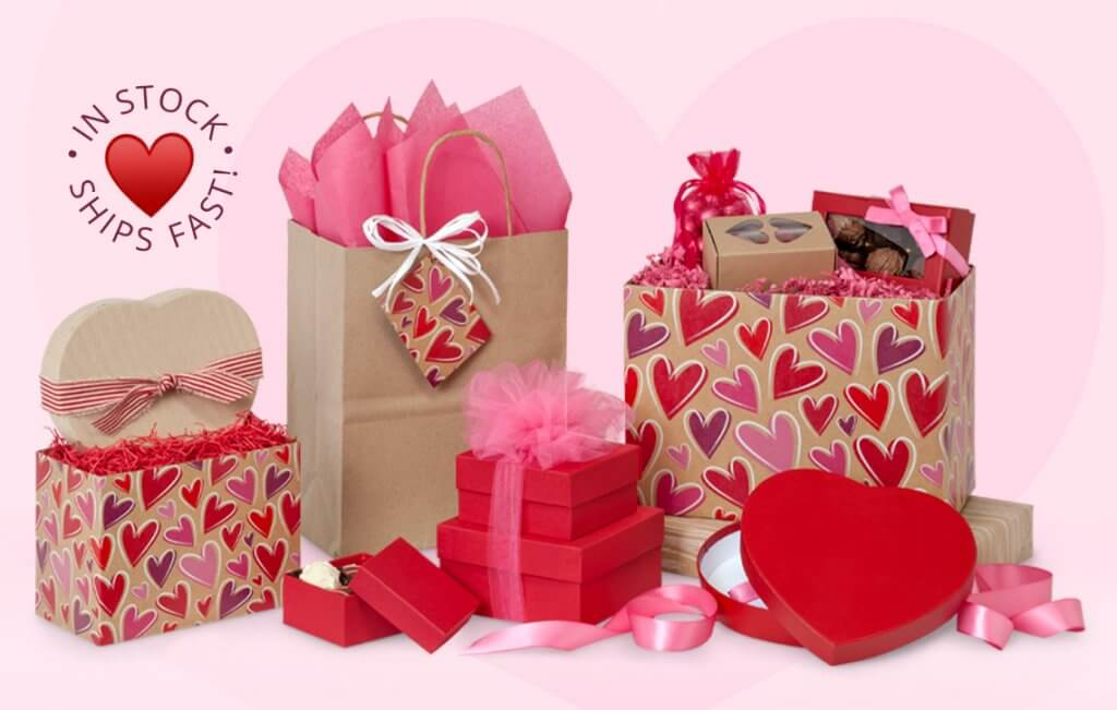 Valentine's Day Packaging from Nashville Wraps - In Stock & Ships Fast!