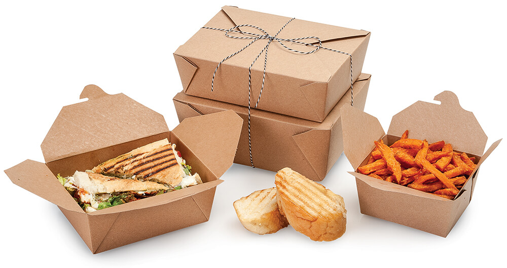 Bio pack boxes - American made carry out packaging