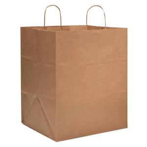 brown kraft take out bags