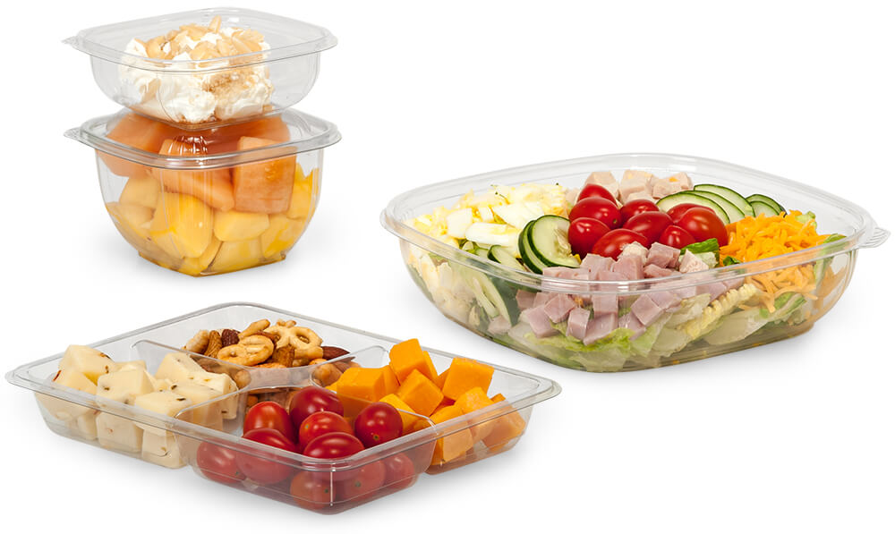 Clear food containers - American-made carry out packaging