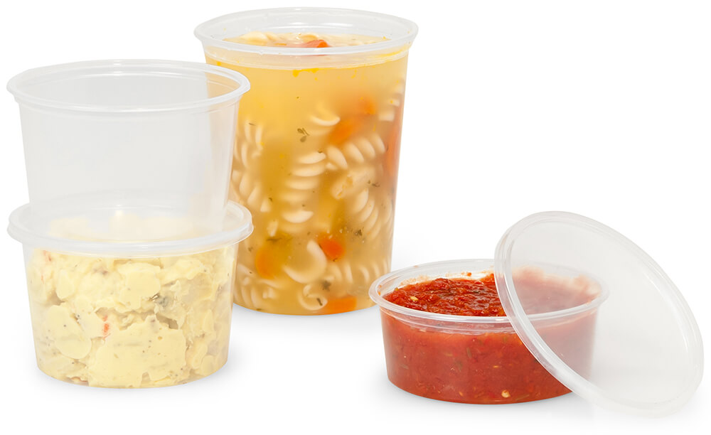 Deli container combo packs - Carry out packaging that's made in the USA