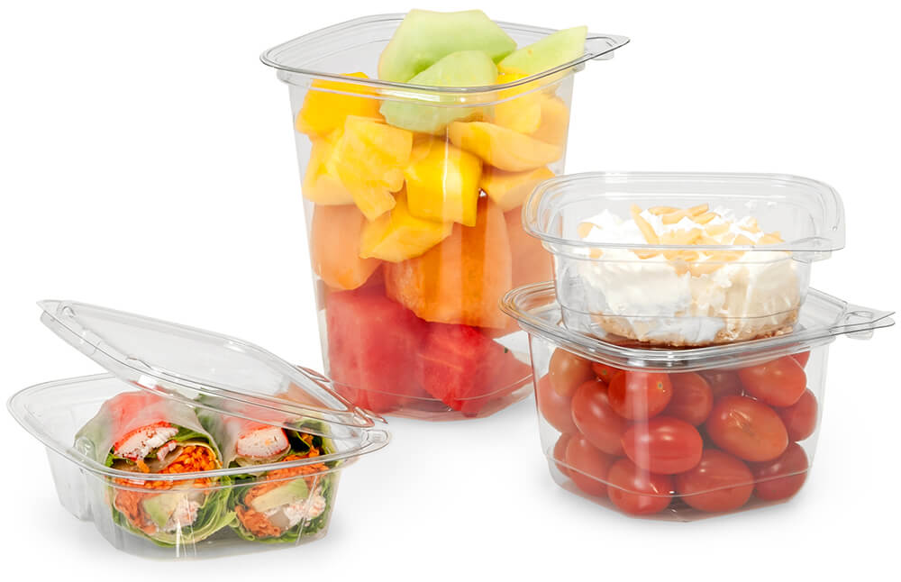 Tamper evident American-made carry out containers