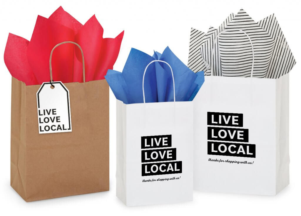 Live Love Local Bags - thank your customers for shopping local!