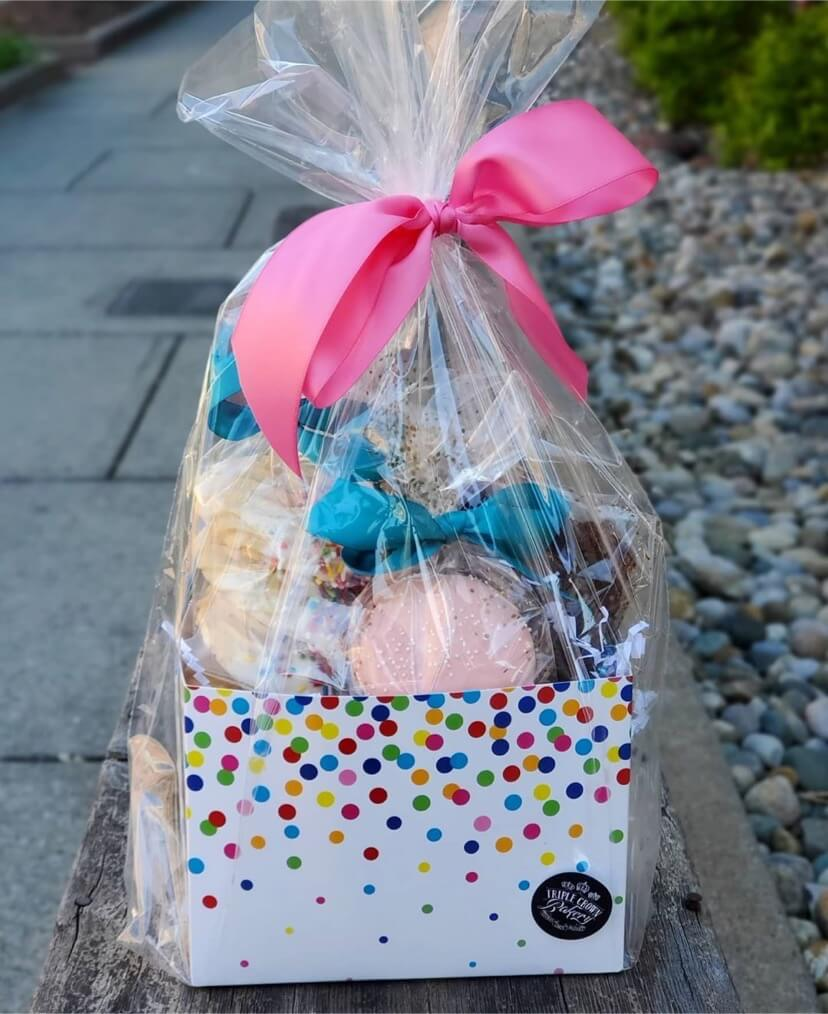 Triple Crown Bakery gift basket using Nashville Wraps gift basket packaging