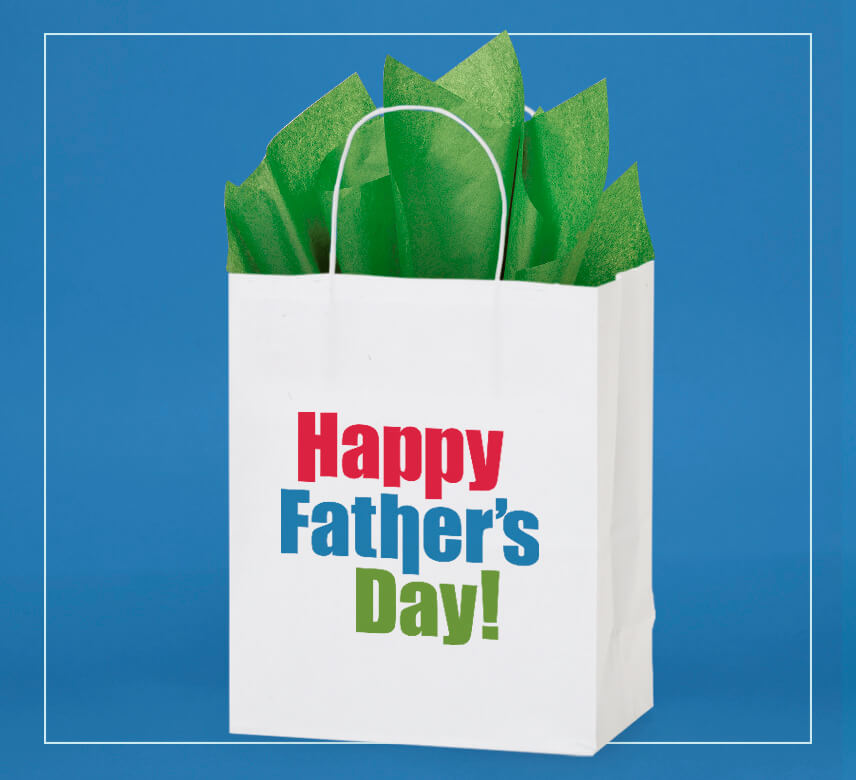 "New ""Happy Father's Day!"" shopping bags from Nashville Wraps"